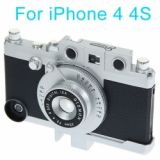 Novel Classical Style Hard Case For Iphone 4/4s (silver & Black)