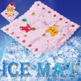 Multifunctional Cool Soft Cozy Summer Ice Pet Pad Car Chair Pillow Mat With Cartoon Pattern