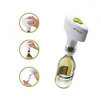 Streamlined Design Automatic Wine Opener Power By 4xAA Batteries (White)
