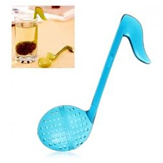 Stylish Musical Notes Shape Plastic Tea Strainer Tea Spoon
