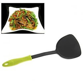 Nonsticky Plastic Chinese Style Slice With Green Handle