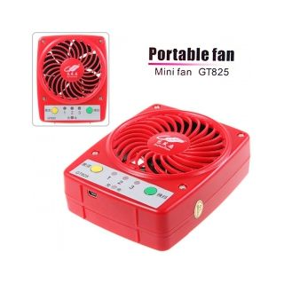 Gt825 Portable Mini Fan Charging By Usb Connector/ Car Charger Etc - Red