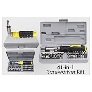 41 Pcs Screwdriver Kit Combination Tool Set With Bits And