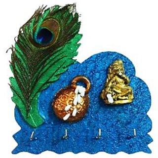 Key chain holder - Krishna Makhan - wall hanging - Unique Arts