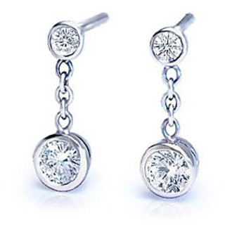 Silver American Diamond Earrings
