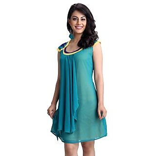 Begin101 Teal Georgette Dress
