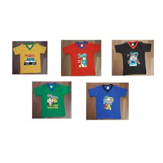 Kids V-neck Tshirt Pack of 5 combo