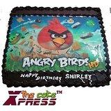 Angry Bird Edible Photo Cake-Delhi NCR
