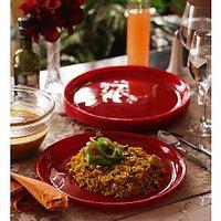 Dinner Plates - Incrizma Round 6 Pc Dinner Plates - RED