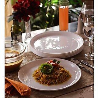 Dinner Plates -Incrizma Round 6 Pc Dinner Plates - WHITE