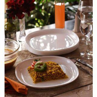 Dinner Plates - Incrizma Square 6 Pc Dinner Plates - WHITE