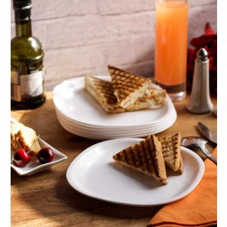 Dinner Plates - Incrizma Square 6 Pc Quarter Plates - White