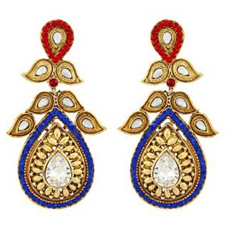 Asmara Dazzling Gold Plated Kundan And Stone Encrusted Earrings