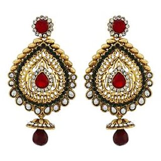 Asmara Designer Gold Plated Kundan Studded Earrings