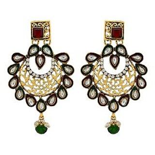Asmara Artistic Kundan Earrings