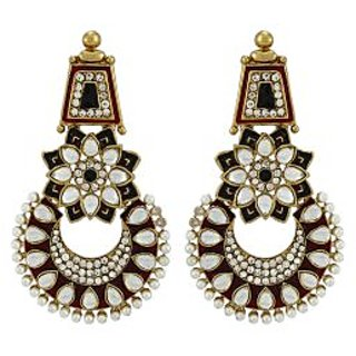 Asmara Exquisite Earrings Embellished With Pearls And Kundan
