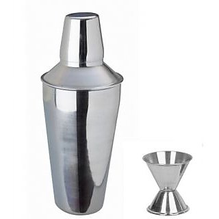 2 piece Bar set (Medium) - Regular cocktail shaker and peg measure