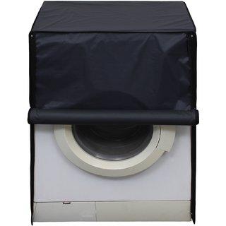 Glassiano Dark Gray Waterproof  Dustproof Washing Machine Cover For Front Load Haier HW60-1279 6 Kg, Washing Machine