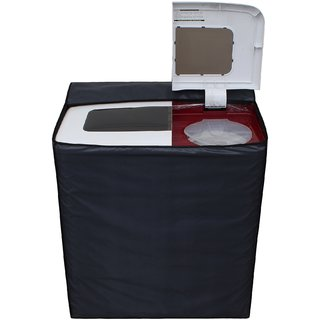 Glassiano Dark Gray Waterproof  Dustproof Washing Machine Cover For semi automatic Sansui SS72FR-DMA 7.2 Kg, Washing Machine