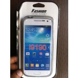 Frosted TPU Jelly Back Cover Case With Removable Plastic Rim For Samsung Galaxy S4 Mini I9190 I9192