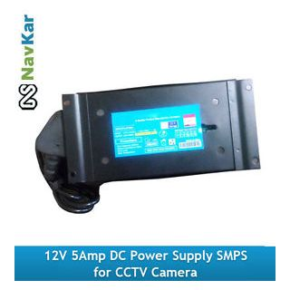 12V, Hi Safe 5Amp DC Power Supply SMPS for CCTV Camera