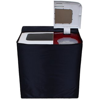 Glassiano Navy Blue Waterproof  Dustproof Washing Machine Cover For semi automatic Haier XPB68-114D 6.5 kg, Washing Machine
