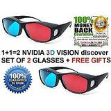 2 Pieces Nvidia 3d Vision Discover 3d Glasses Free 3d Software Free Gifts