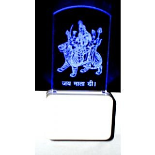 Jai Mata Di Spiritual Night Lamp Multicolor