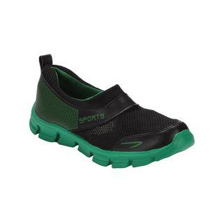 Yepme Stroke Sports Shoes - Black & Green