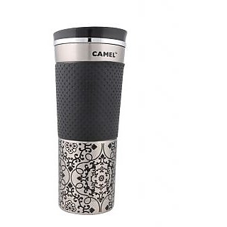 Camel Desiner Vacumm Black 450 ML Sports Bottle_CSB_45_RD_BK