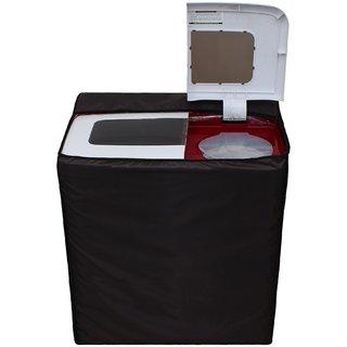 Glassiano Coffee Waterproof  Dustproof Washing Machine Cover For semi automatic Gem GWM-105BR 8.5 Kg, Washing Machine