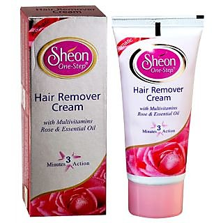 Sheon One Step Hair Remover Cream With Multivitamins Rose And Essential Oil-60gm