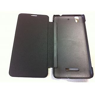 pretty nice b7adf 8b8ad Micromax Yu Yureka AO 5510 Leather Folio Flip Flap Cover Case Battery Back  Case