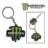 Rubber Monster 'M' Keychain/Keyring For Bike/Car
