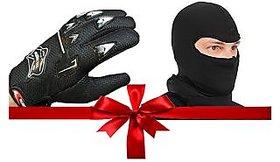 love4ride Combo of  Riding Gloves + Balaclava