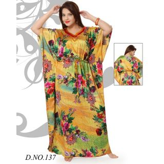 a91daeada6 Womens Kaftan Cotton Floral Printed Nighty New Night Gown Daily Bed Wear 137