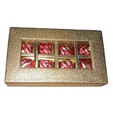 Sweets Chocolates With Filled Up Gulkand On Diwali In Golden Box