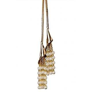 Rejuvenate Jewels 2 IN 1 Tie & tie white pearl miultipurpose necklace -RJN827