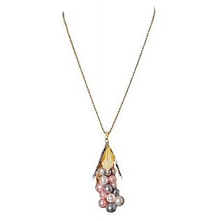 Rejuvenate Jewels handmade MULTICOLOR PEARL BUNCH EVERYDAY WEAR NECKLACE -RJN832