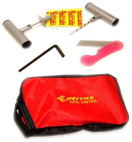 Tubeless Tire / Tyre Puncture Plug Repair Kit with Carry Case (Bag)