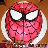 2 Kg Spiderman Face Cake-Delhi NCR