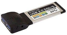 2 Ports USB 3.0 PCMCIA CardBus ExpressCard