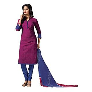Purple Unstitched Dupion Silk Salwar Kameez