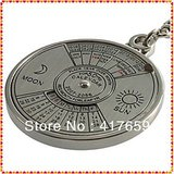 Super Perpetual Unique Metal Key Chain Ring 50 Years Perpetual Calendar Keyring