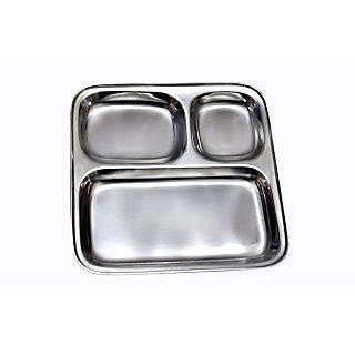 Set of 12 Stainless Steel Pav Bhaji / Snacks Plate
