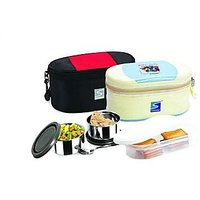 Stenso Brio Lunch Box With Insulated Carry Pouch And Ss Spoons