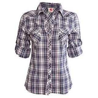 04903869f2 Ladies Cotton Check Shirt