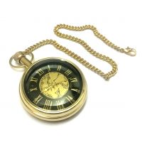 Anantahomes Golden Brass Pocket Watch Chain Brass Dial