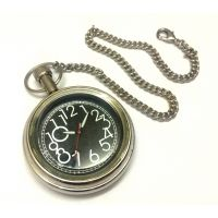 Anantahomes Brass Pocket Watch Chain Silver Finish