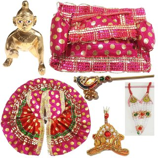 Beautifully Handmade Shringaar Set With Brass Laddu Gopal